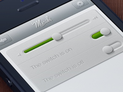 Musiki app  music player interface user button buttons app application design ui ux style volume soft white flat free psd icon icons texture textures iphone ipad mac istanbul turkey
