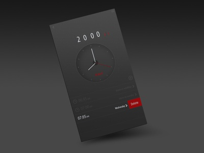 Alarm App alarm app iphone ui ux