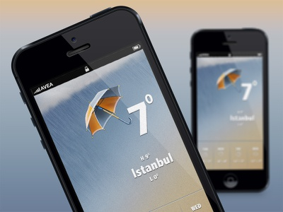 iPhone weather app iphone weather app design ui ux