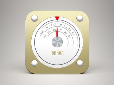 (Free PSD) Braun radio iOS icon free psd ui ux braun radio ios icon