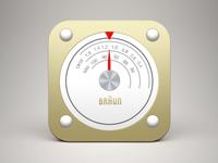 (Free PSD) Braun radio iOS icon