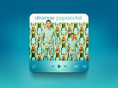 (Free PSD) music player ui (Stromae Papaoutai) design ui ux free stromae papaoutai player psd