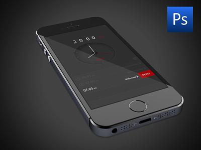 Free PSD Alarm App Uİ free psd alarm app uİ iphone ipad design ux clock