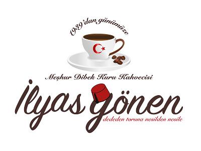 ilyas gönen coffee logo design turkey ilyas gönen coffee logo turkish