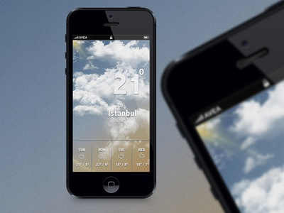 Partly cloudy screen