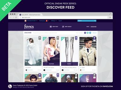 Favics — Discover feed