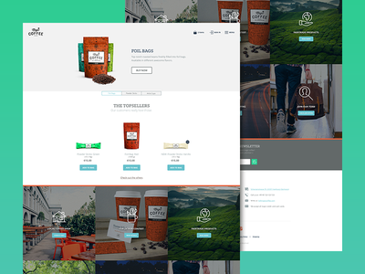 magic*coffee — Desktop view (Landingpage) responsive ui webdesign cms alchemy spree shop coffee mobile wip