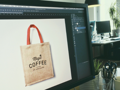 magic*coffee — Branding elements mockup bag branding corporate coffee magic