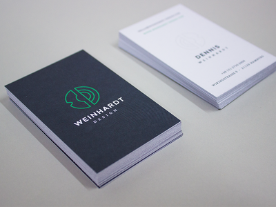 Personal Identity — Business Cards minimalism brand business cards geometric mark dw wd stationery branding identity corporate