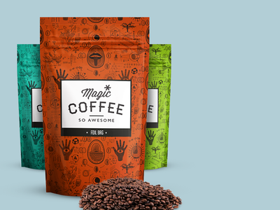 magic*coffee — Product Lineup (Foil Bags) product branding coffee