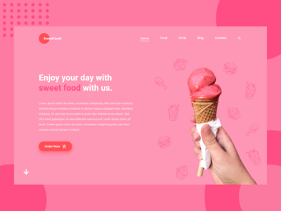 Sweet Food - Landing Page Web Design