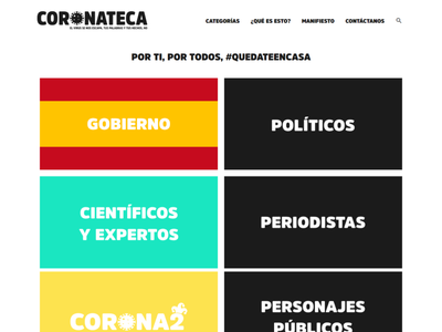 Coronateca - Website website web design bad decisions crisis politicians database newspaper news covid-19 spain covid19 coronateca