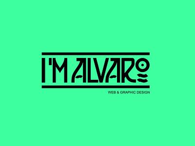 I'M ALVARO logo logo design spain personal logo brand logo im alvaro imalvaro