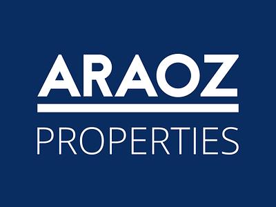Araoz Properties spain branding logo araoz properties