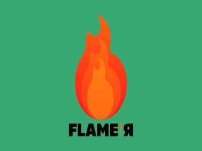 Flame'r logo illustration logotype logo design branding logo flamer