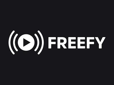 Freefy logo web app ios android music app streaming app music streaming design spain logotype logo design branding logo