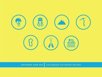 Colorado Outward Bound Icon Set