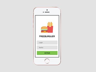 Hamburger House Concept web app ui