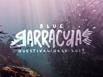 Blue Barracudas shirt handtype fish type