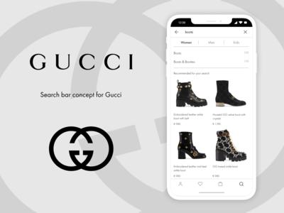 Search Bar Concept x Gucci