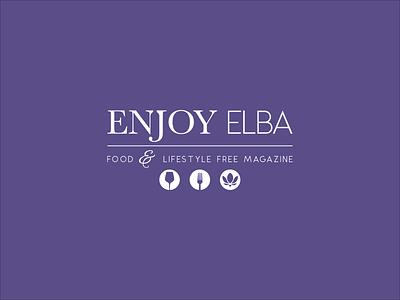 Enjoy Elba - Food & Lifestyle Free Magazine typography magazine web branding logo