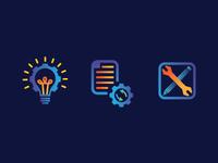 Icon design for website