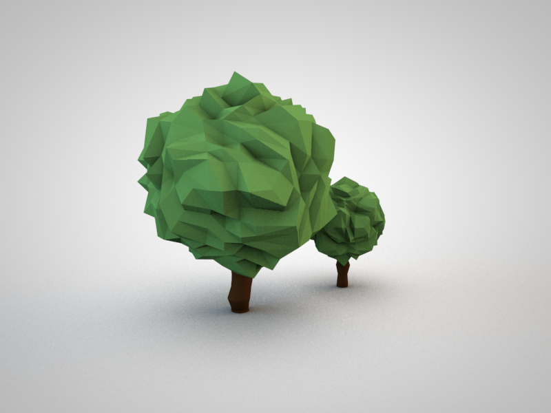 Trees 3d low poly c4d trees nature