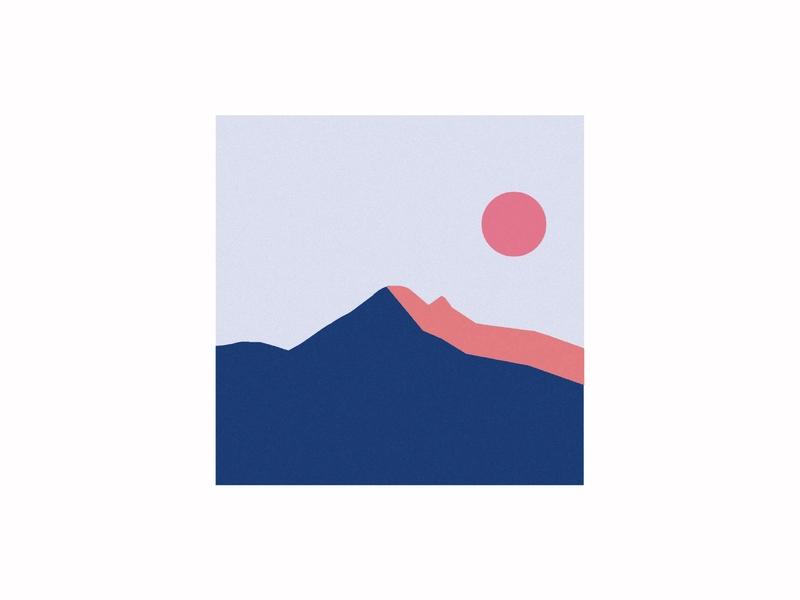 sunset illustration simple landscape sunset illustrator