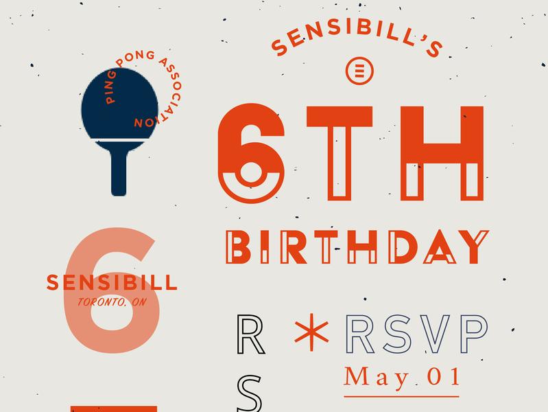 WIP invitation. retro vintage typography logo branding