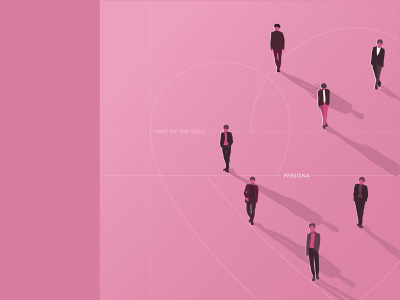 Map of the Soul: Persona kpop illustration music map of the soul album bts dribbbleweeklywarmup weekly warm-up