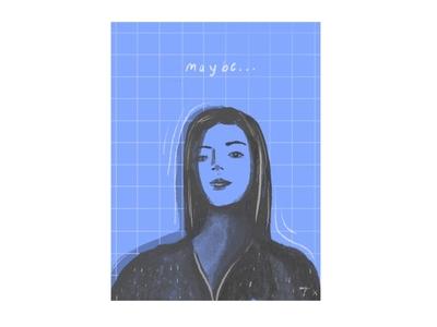 blue illustration procreate