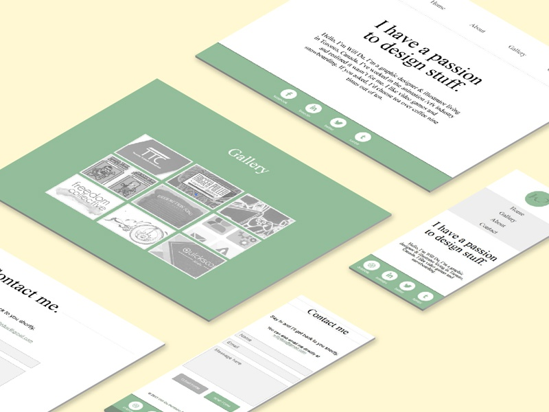 Site redesign v2 website ui desktop mobile interface portfolio gallery