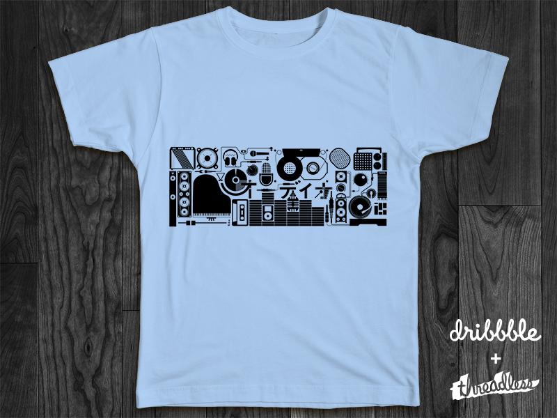 Audio threadless tshirt