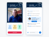 Live Events App Concept II - Live Chat