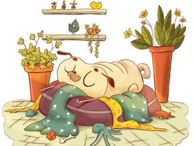 Oliver, my dog :D kidlit digitalart children art kidsillustration illustration