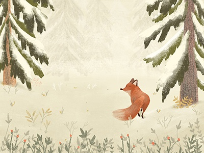 Little Fox digitalart kidsillustration illustration