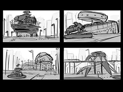 Car Museum digitalart sketch thumbnail illustration
