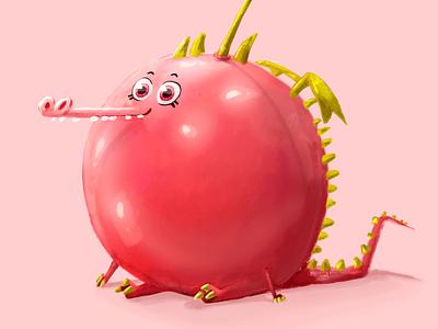 Cherry Dragon kidlitart kidlit dragon illustration kidsillustration digitalart