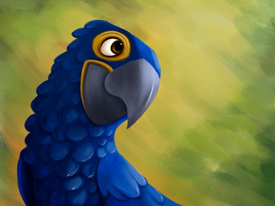 Blue Macaw kidlitart kidlit kidsillustration illustration digitalart