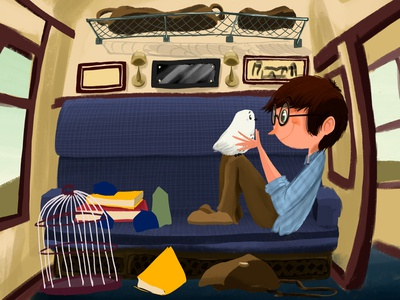 Going to Hogwarts train hogwarts harrypotter kidlit kidlitart kidsillustration illustration digitalart