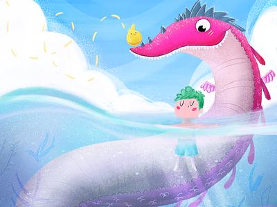 Time to Rest :) children illustration children art cute magical dragon kidlit kidlitart kidsillustration illustration digitalart
