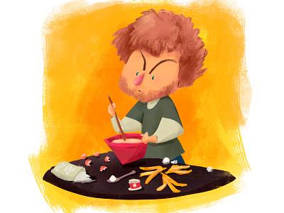 Cooking Time cute children illustration children art kidlitart kidlit kidsillustration illustration digitalart