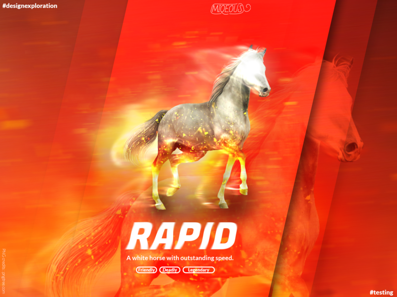 Rapid - Designexploration vibrant white horse ux ui illustrator gradient illustration design color