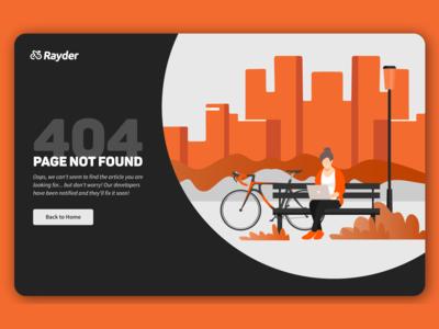 Rayder - 404 Page (DailyUI #008)