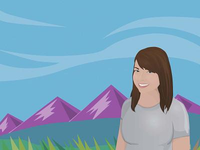 Self Portrait Illustration - Lauren Ann Davies web vector design digital illustration illustration design illustration portrait art self portrait portrait illustration