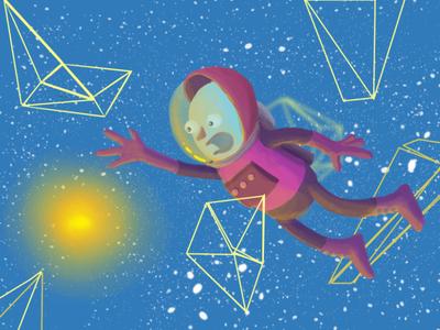 Astronaut design test krita character astronaut illustration
