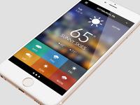 #uidesign 365 - Day 5 - Weather App
