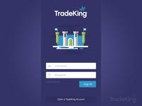 TradeKing Login Concept
