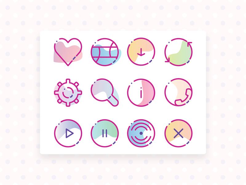 dribbble icon ui vector design illustrator dribbble icon