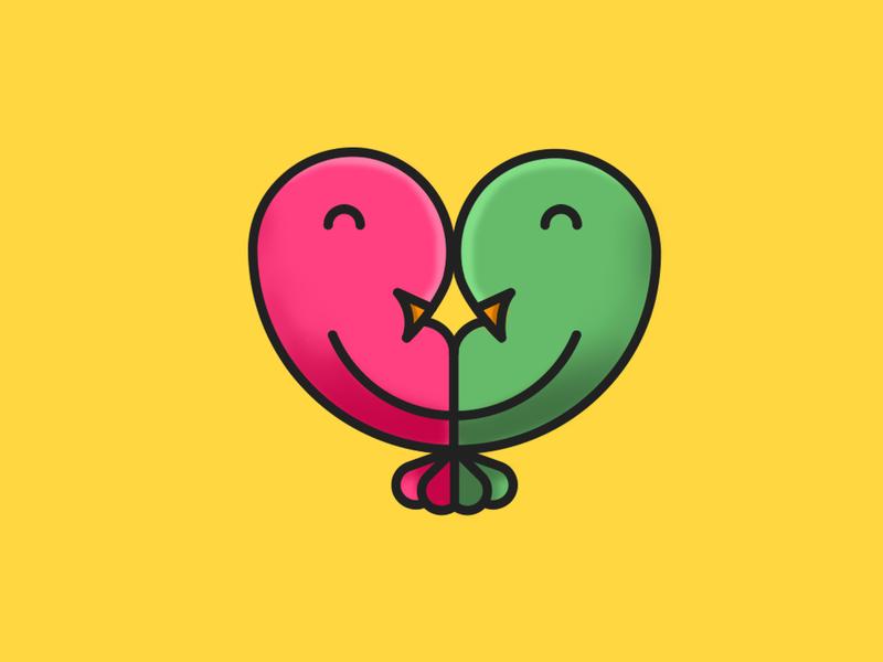 Lovelybirdsxox branding dribbble flat logo illustration vector illustrator
